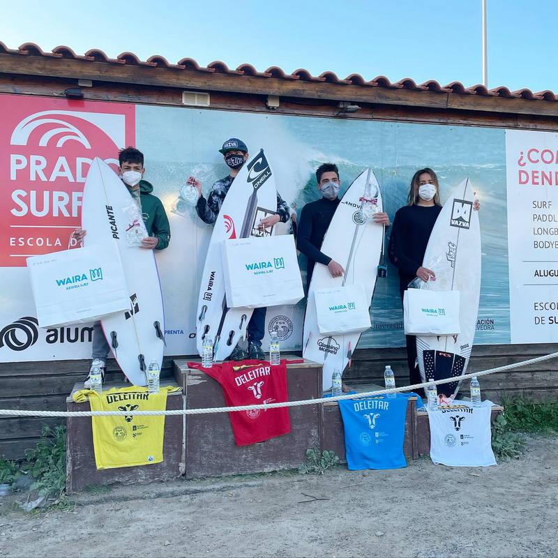 Samu Martínez (Escuela Surf Picante), plata Sub-16 en la 1ª Prueba del Circuito Gallego