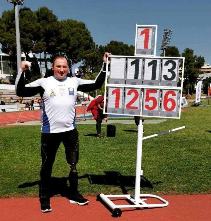 El tinitense David Fernández, récord de España de lanzamiento de peso en Gandía