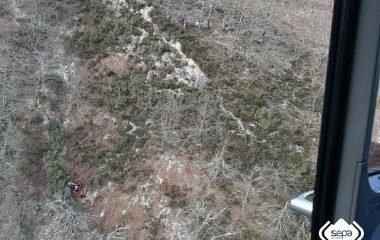 Rescatado un senderista que sufrió una caida en una Ruta de Montaña
