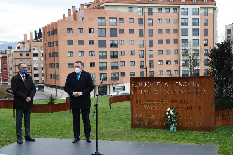 Acto de homenaje a las víctimas de la covid-19