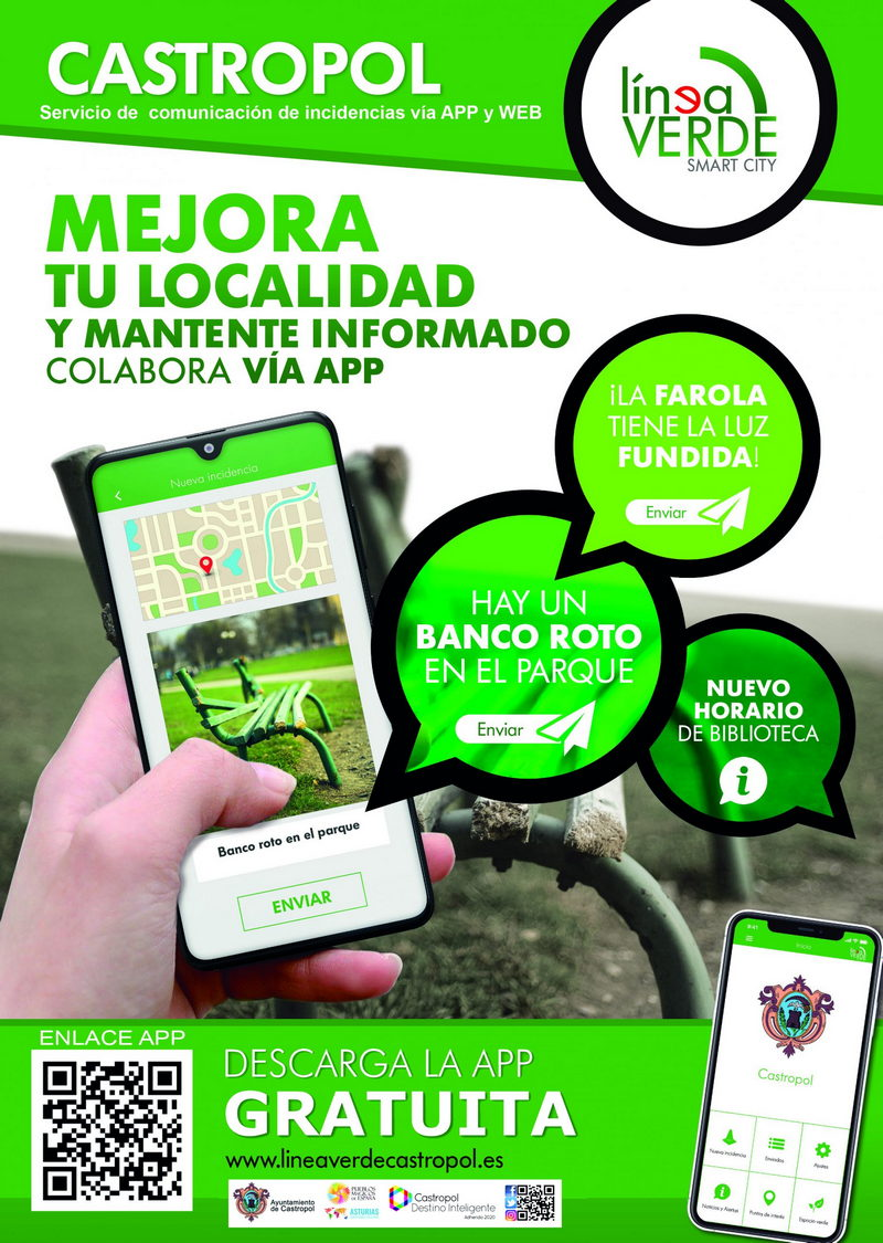 """Línea Verde de Castropol: """"con esta aplicación poden comunicarnos inmediatamente cualquer incidencia que vexan"""""""