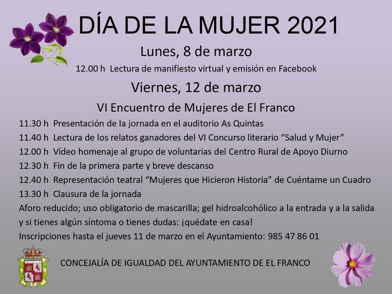 El Franco conmemorará el 8-M con diversas actividades