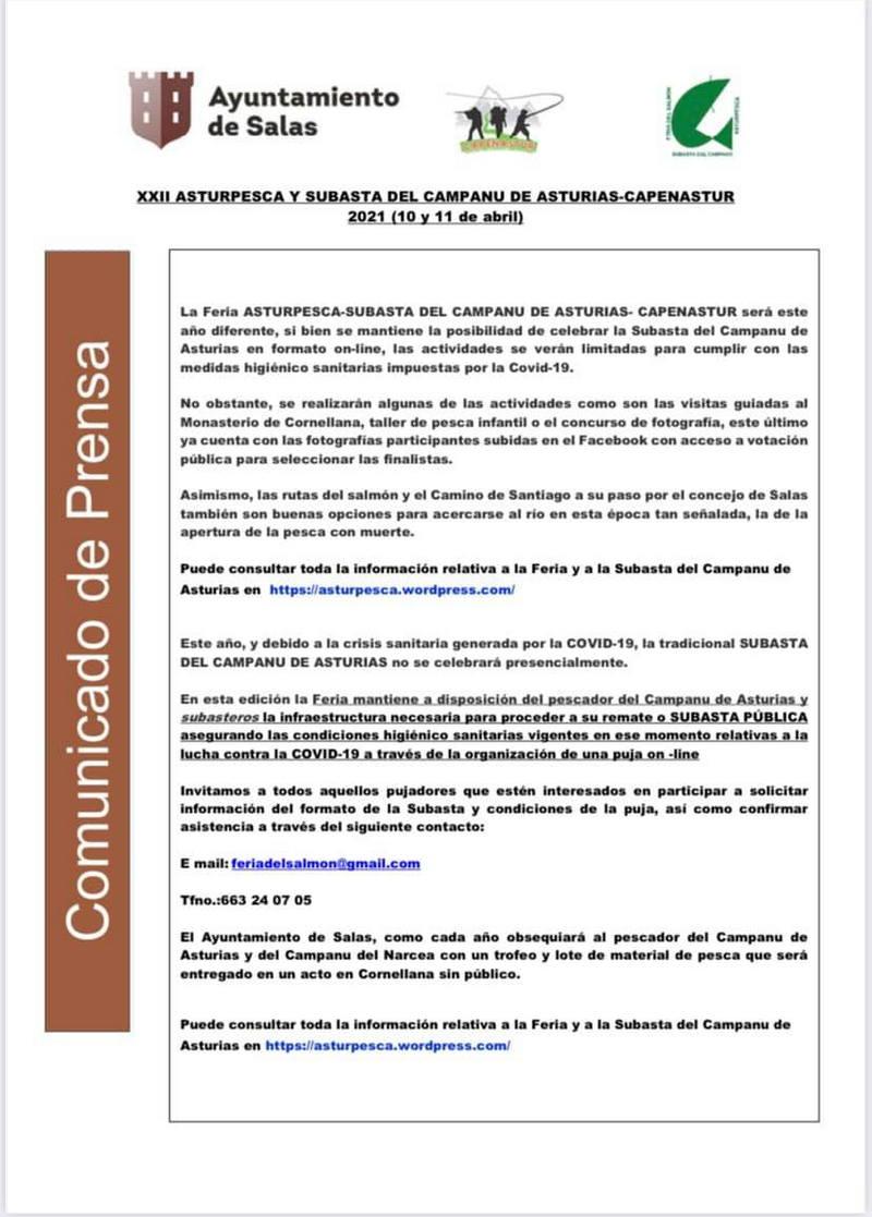 Subasta On Line del Campanu de Asturias el próximo domingo