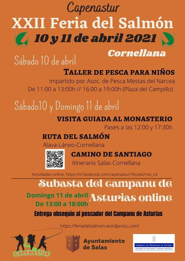 La Feria del Salmón de Cornellana mantiene alguna de las actividades de manera presencial