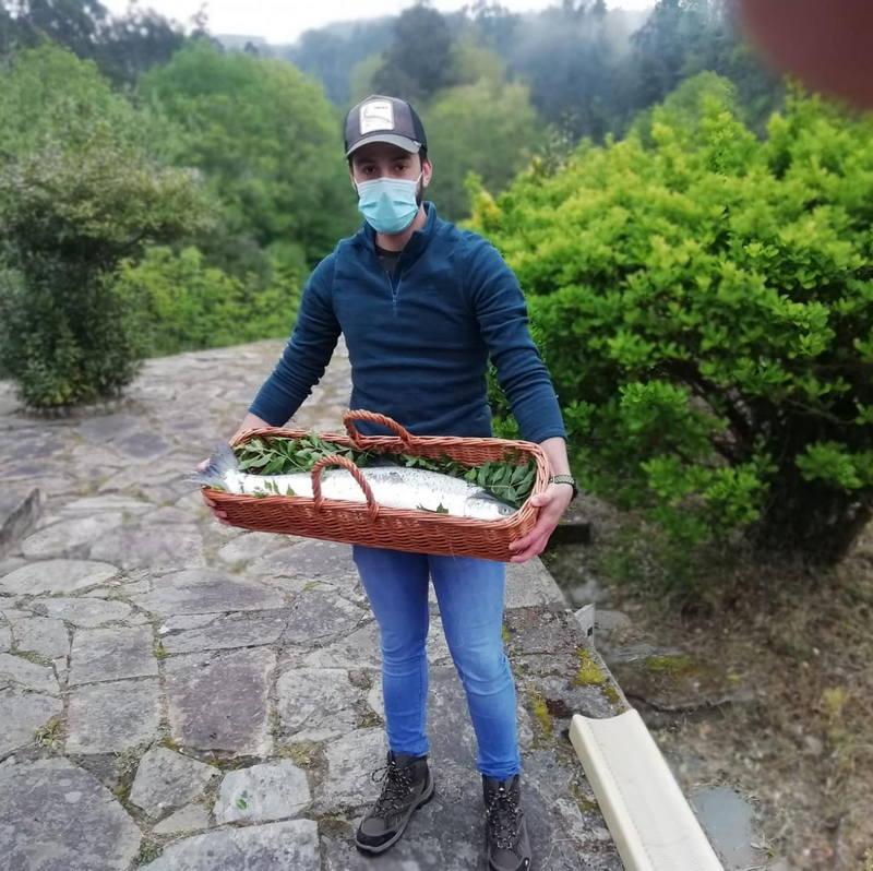 Gonzalo Fernández, saca el Campanu de Asturias en el Eo