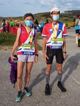 Marta González y Nayo Villanueva (Club Toscaf Recta Final), Oro y Plata en el Nacional de Carreras de Montaña (Trail Running)