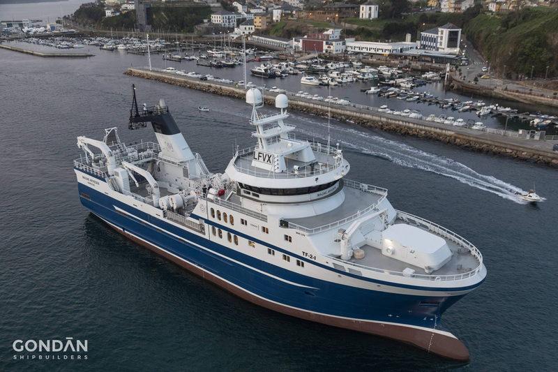 Gondán entrega un arrastrero-congelador que operará en aguas del Atlántico Norte y del Ártico