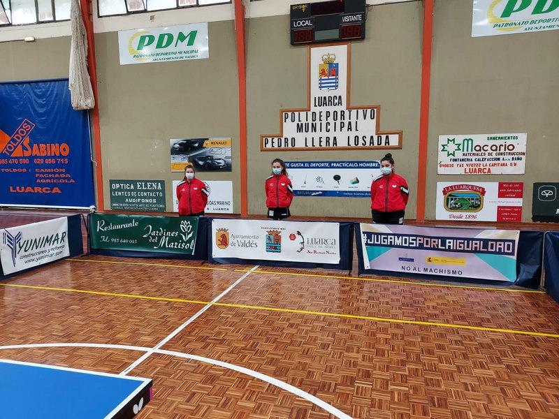Un empate y cuatro derrotas para los equipos del Luarca Tenis Mesa en la Concentración de Liga celebrada en Luarca