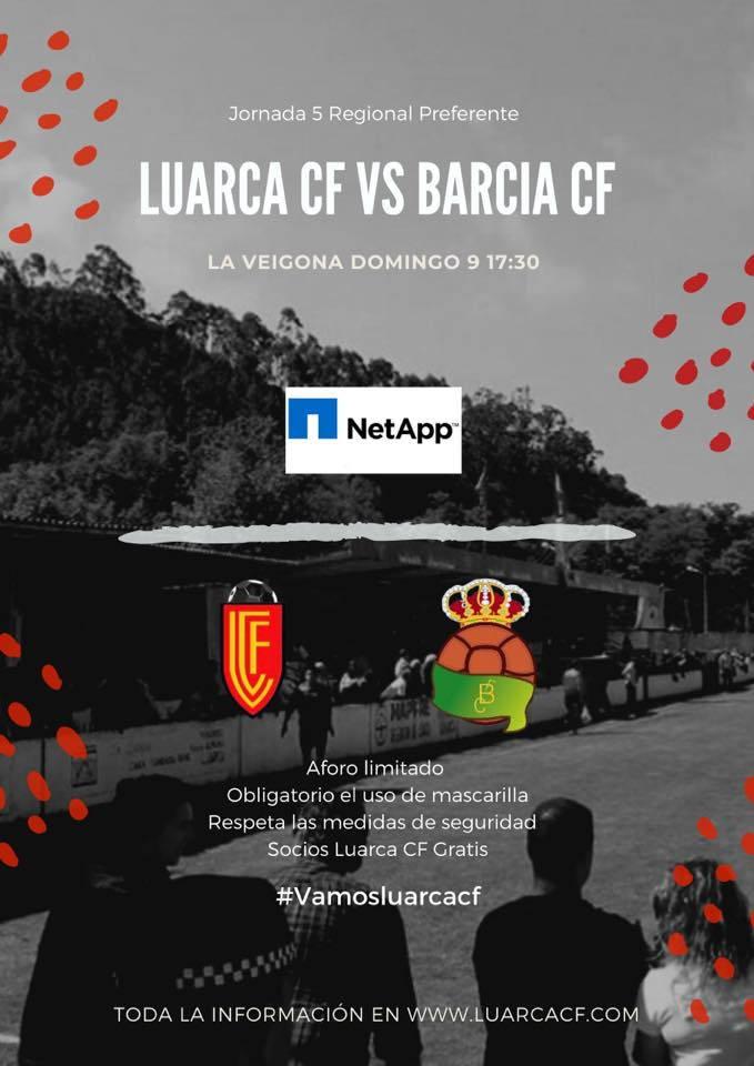 "Primer ""derbi"" Luarca-Barcia en Regional Preferente este domingo en La Veigona."