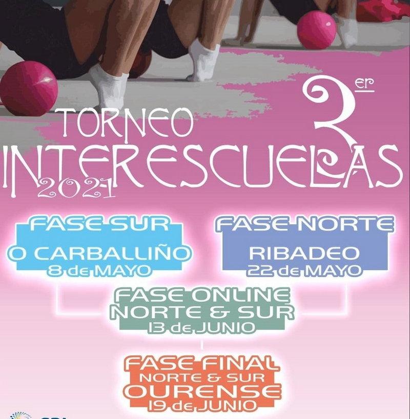 Este sábado se celebra en Ribadeo el 3º Torneo Inter Escuelas de Gimnasia Rítmica con 120 participantes