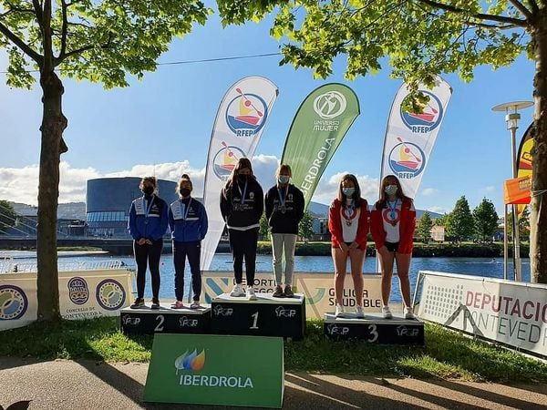 Dos Bronces para el Club Piragüismo Altruan de Ribadeo en en Campeonato Gallego de Maratón