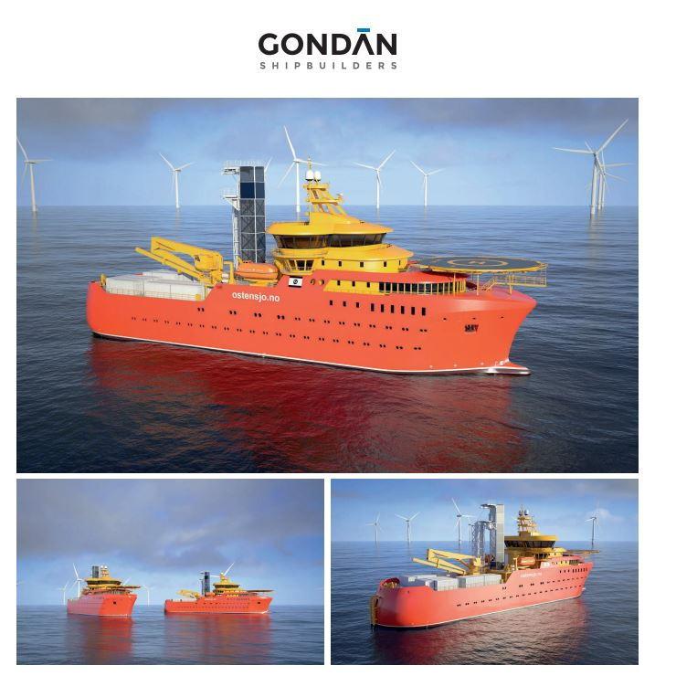 Gondán botará este miércoles el C489, un buque de apoyo y puesta en marcha de parques eólicos marinos
