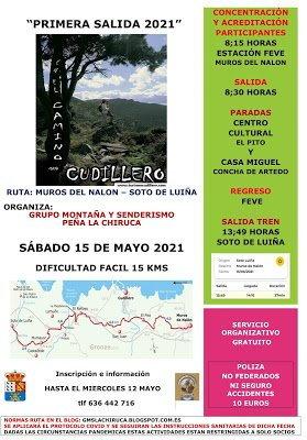 El Grupo de montaña y senderismo La Chiruca de Cudillero retoma sus actividades