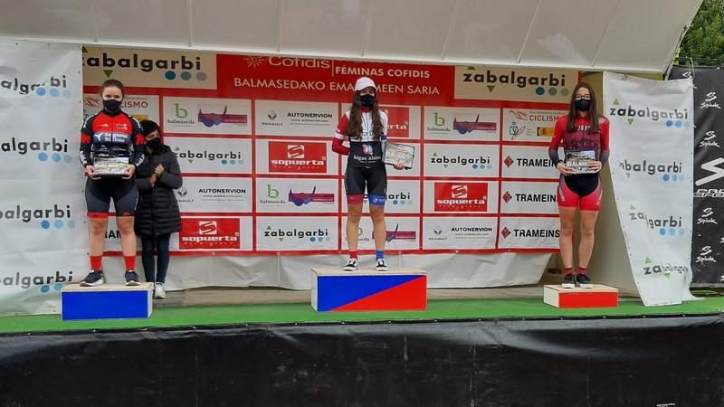 Carla Suárez (EC Coque Uría), 3ª Cadete en la Copa de España de Ciclismo Femenino