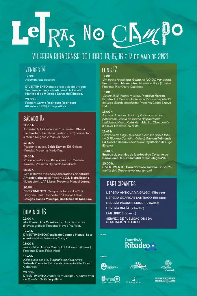 """VII Feria del Libro """"Letras no Campo"""" en Ribadeo"""