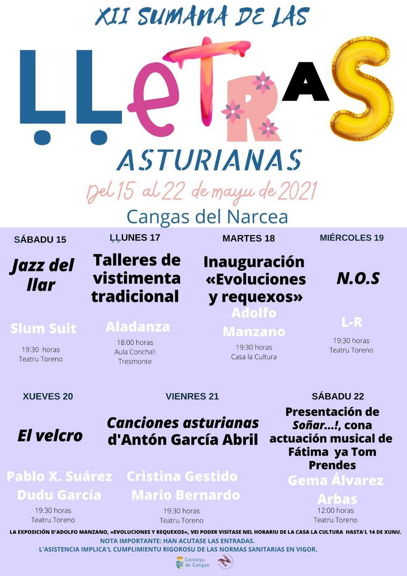Cangas del Narcea celebra la súa XII Sumana de las Ḷḷetras Asturianas