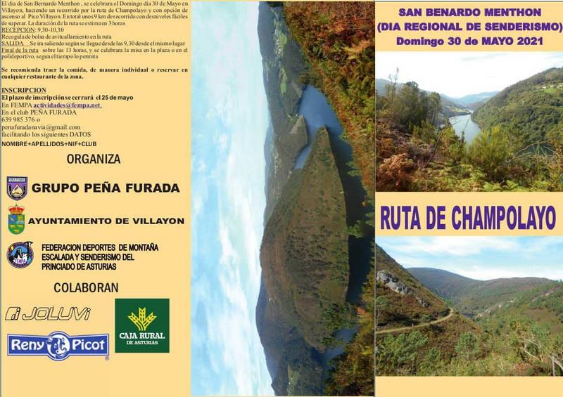 El Día Regional del Senderismo San Bernardo Menthón: Ruta de Champolayo se celebrará el próximo domingo en Villayón