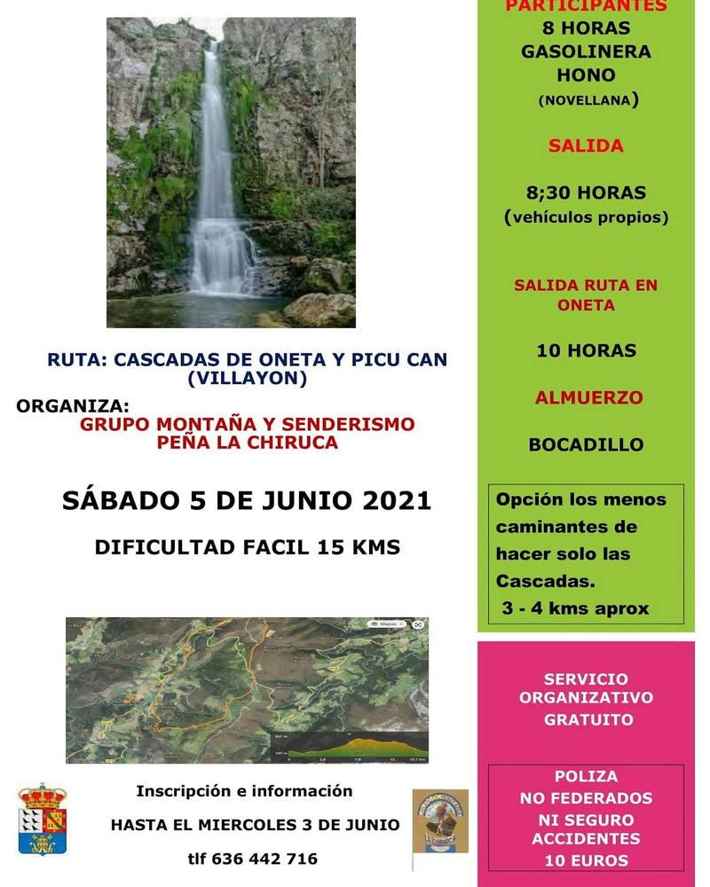 Salida del Grupo de Montaña La Chiruca de Cudillero a las Cascadas de Oneta (Villayón)