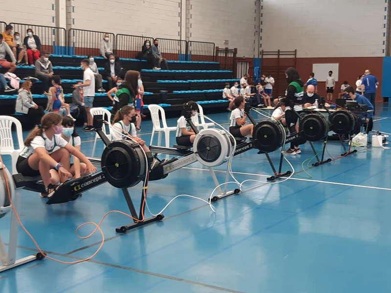 Nueve medallas para el Club de Mar de Castropol en el Campeonato de Asturias de Remoergómetro de los Juegos Deportivos