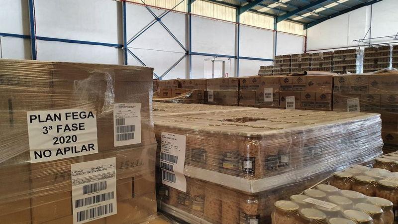 El Programa 2021 de ayuda a personas desfavorecidas comienza en Asturias con el reparto de 436.000 kilos de alimentos
