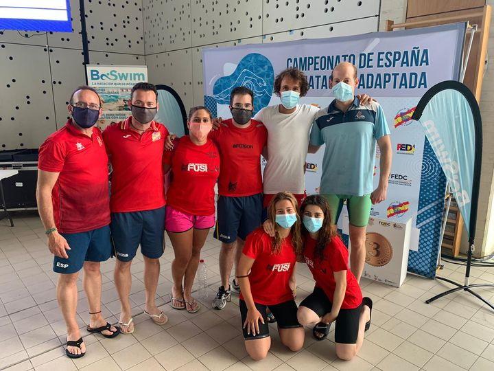 Gran actuación de Alejandro Suárez en el Campeonato de España de Natación Adaptada por clubes