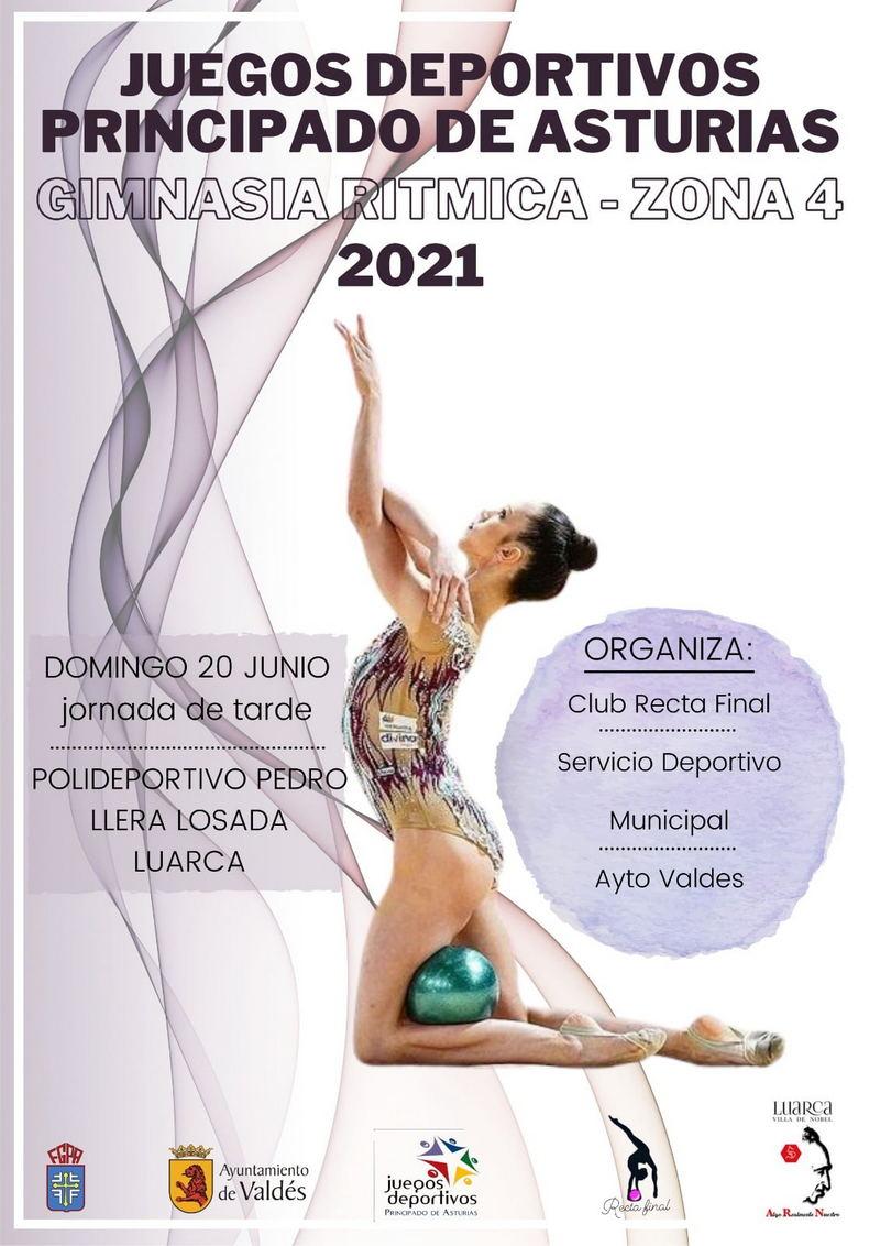 Fase Zona 4 de Gimnasia Rítmica de los Juegos Deportivos el domingo 20 en Luarca