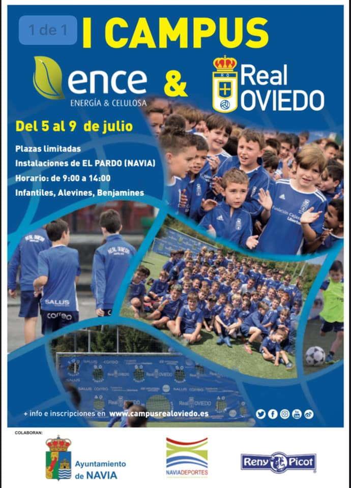 Campus del Real Oviedo en Navia del 5 al 9 de julio