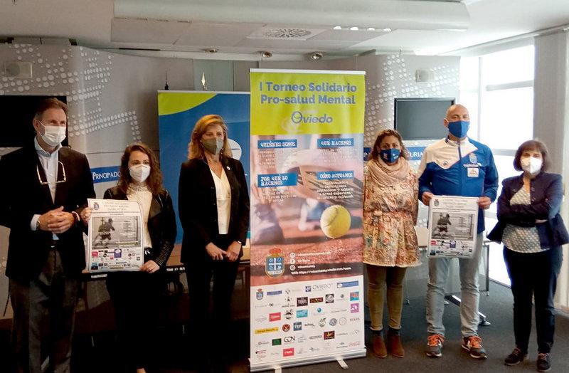 Presentación del I Torneo Solidario Pro-Salud Mental Pádel Oviedo