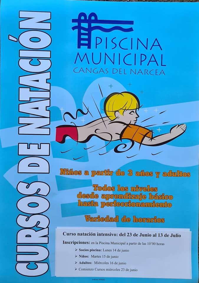 Cursos Intensivos de Natación en Cangas del Narcea del 23 de junio al 13 de julio