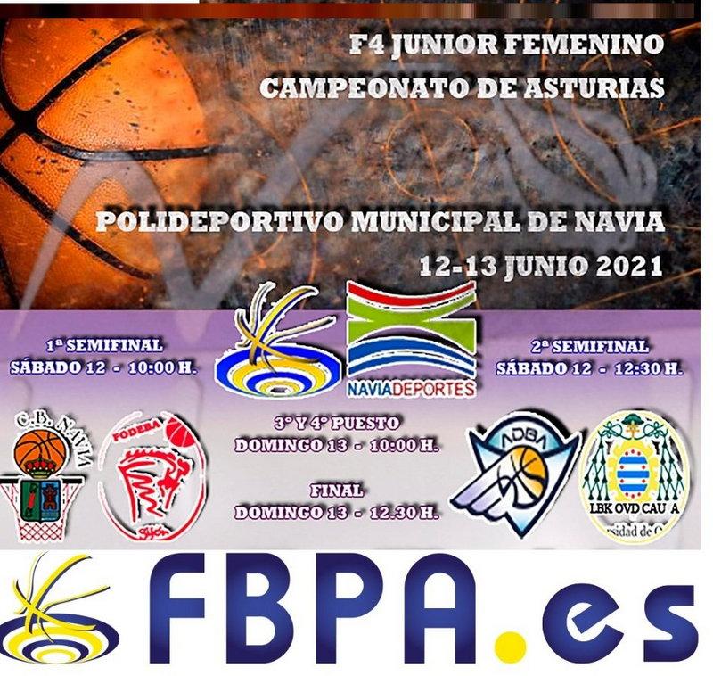 Navia acoge este fin de semana la Final a Cuatro Regional Junior Femenino de Baloncesto
