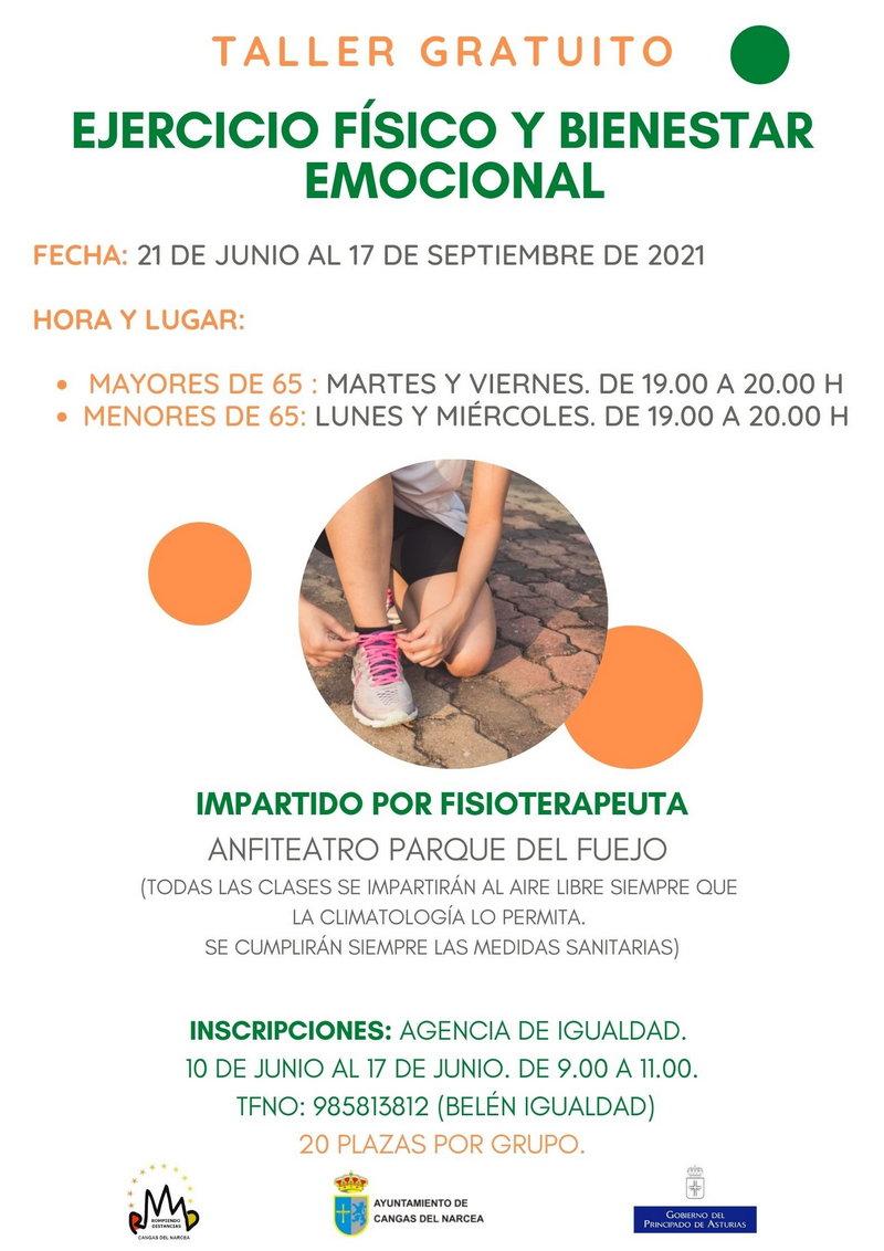 El Ayuntamiento de Cangas del Narcea pone en marcha un Taller de Ejercicio Físico y Bienestar Emocional