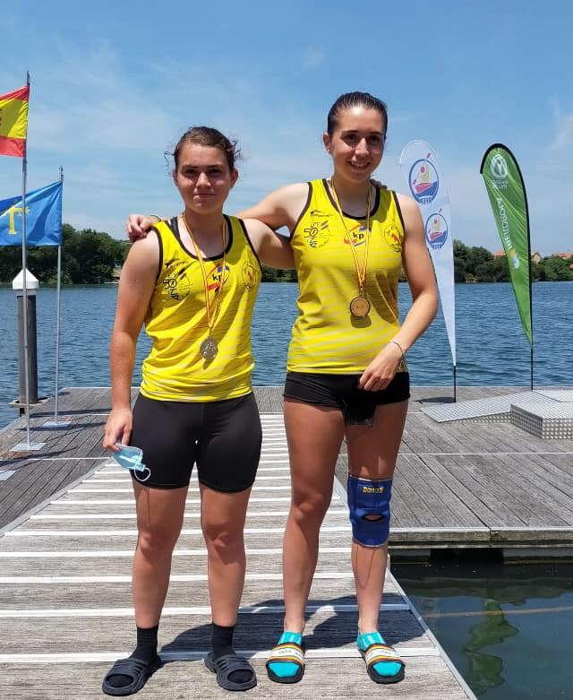 Las palistas Noelia Suárez y Yaiza Novo, Subcampeonas de España K-2 Cadete de Piragüismo