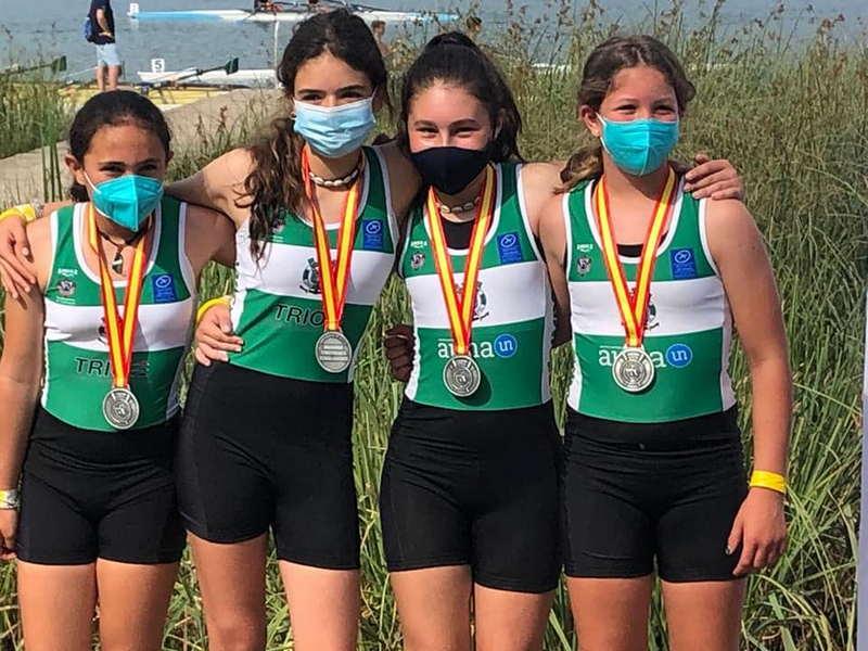 Plata para el Club de Mar de Castropol en el Nacional de Bañolas de Remo Olímpico