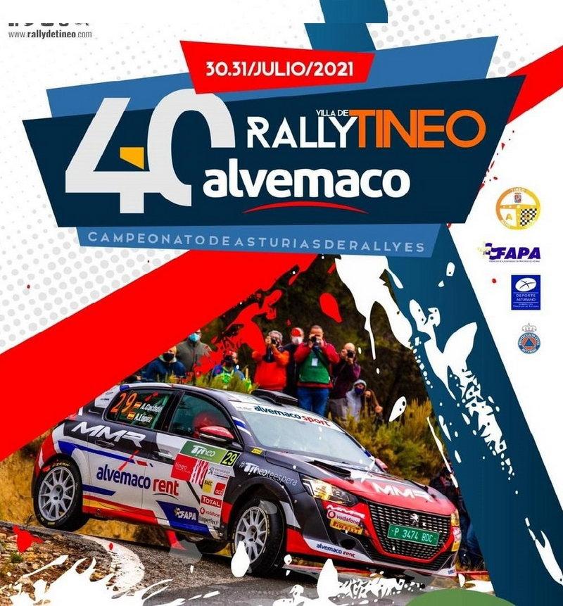 Más de un centenar de pilotos en el Rallye Villa de Tineo que se disputa este sábado