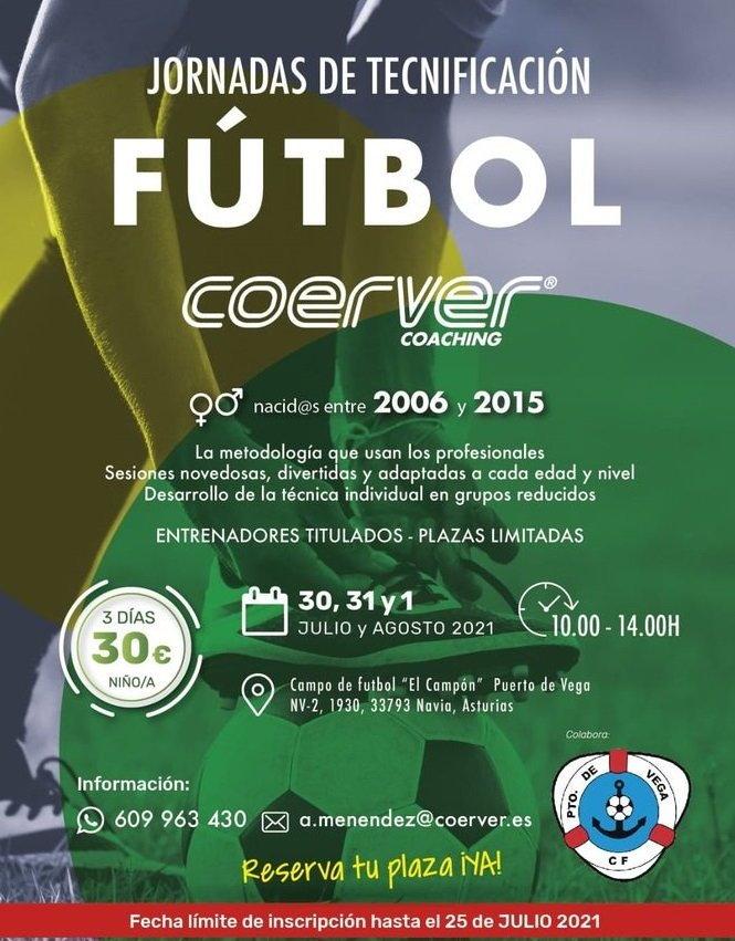 Jornadas de Tecnificación de Fútbol para niños-as en el Campón (Puerto de Vega)
