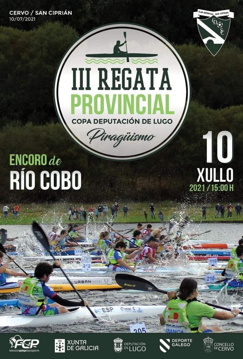 El embalse de Río Cobo (Cervo), acoge el sábado una prueba de la Copa Diputación de Piragüismo