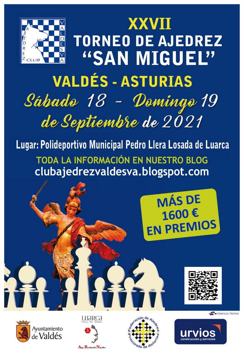 """Abierta la inscripción para el XXVII Torneo de Ajedrez """"San Miguel"""" que organiza el Club Valdesva"""
