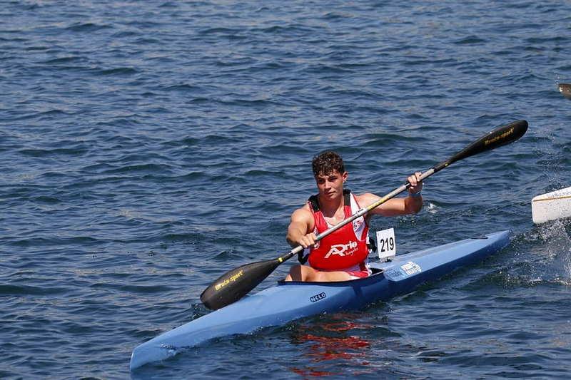 Plata para Nicolás Gayol (Piragüismo Altruan Ribadeo), en el Trofeo Internacional Entre Pontes
