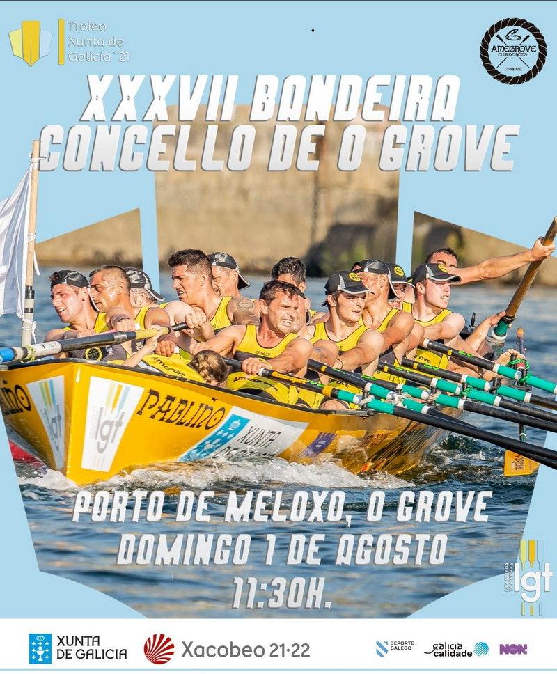 La Trainera de Castropol compite el domingo en la Bandera Concello de O Grove