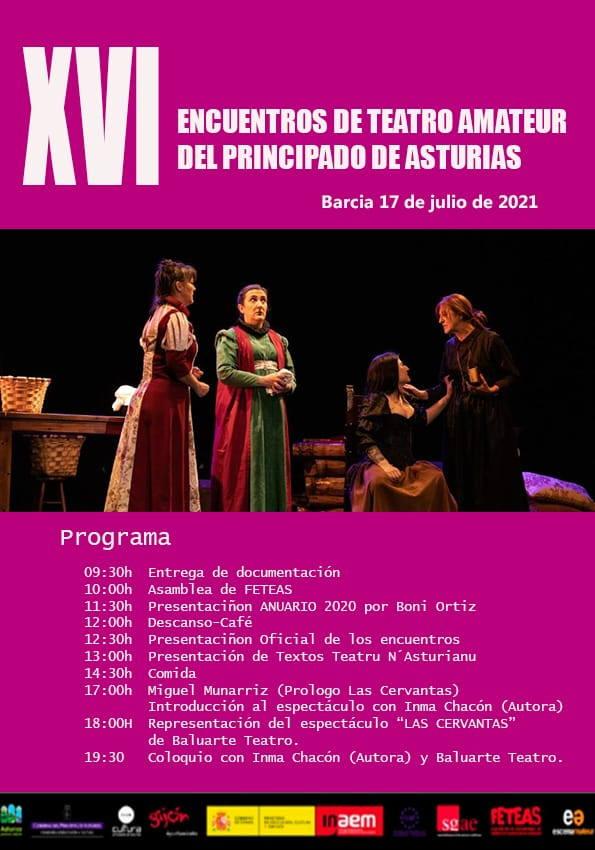 XVI Encuentros de Teatro Amateur del Principado en Barcia (Valdés), este sábado