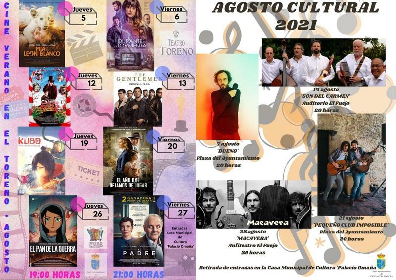 Cine y conciertos al aire libre en el Agosto Cultural de Cangas del Narcea