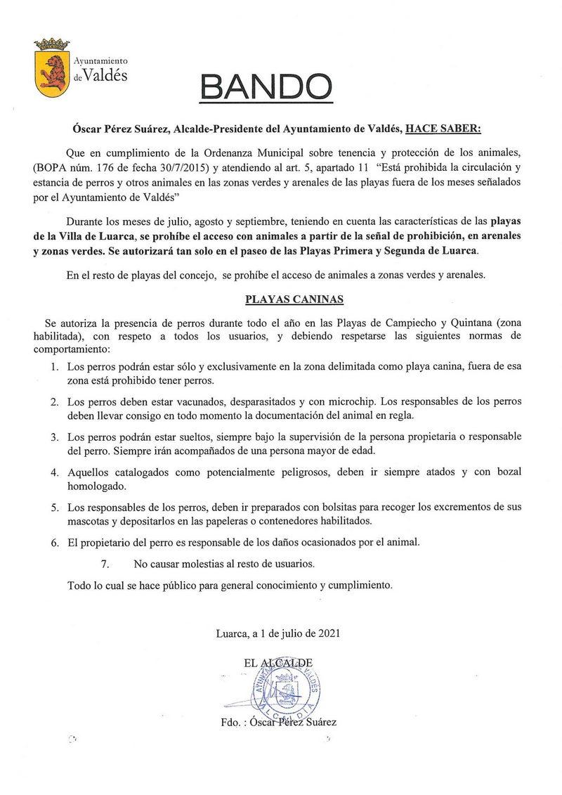"""Campiecho y Quintana, las """"playas caninas"""" de Valdés"""