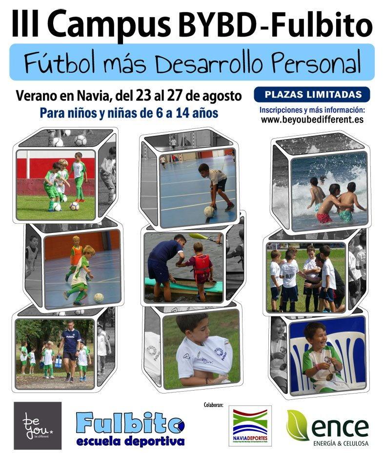 III Campus BYBD – Fulbito, de tecnificación de fútbol con desarrollo personal del 23 al 27 de agosto en Navia