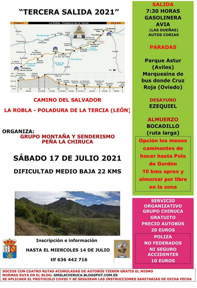 El Grupo de Montaña La Chiruca realizará el sábado la Ruta La Robla-Poladura de la Tercia (León)