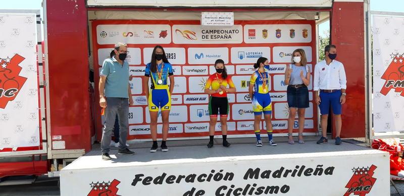 Carla Suárez (Selección Asturiana), Subcampeona de España CRI de Ciclismo en Edad Escolar