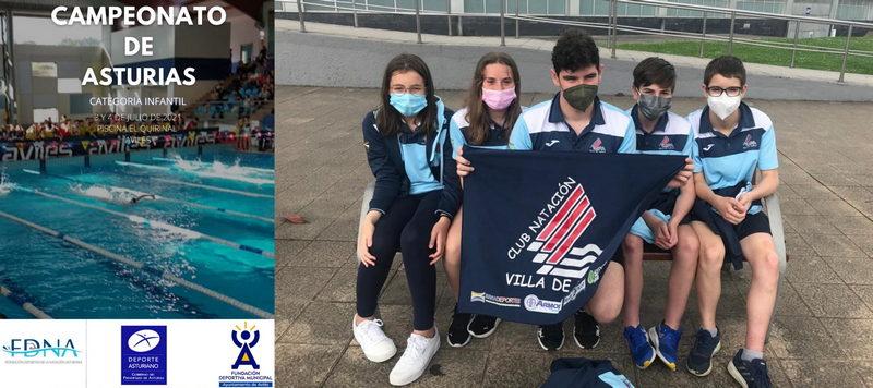 Los nadadores del Villa de Navia compitieron en el autonómico infantil