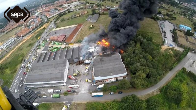 El Principado activa el Plan Territorial de Protección Civil en Nivel 1 por el incendio de Llanera
