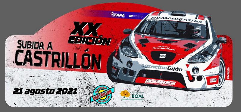 60 pilotos inscritos para la XX Subida a Castrillón (Boal) que se disputa el sábado 21 de agosto