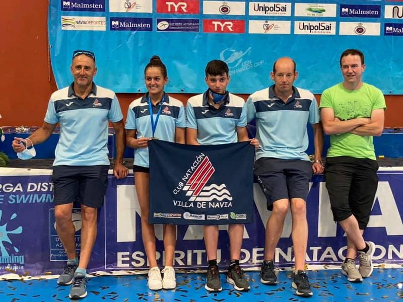 Gran actuación de los nadadores del Villa de Navia con un Campeonato y un Sub-campeonato de Asturias en la Ría Naviega
