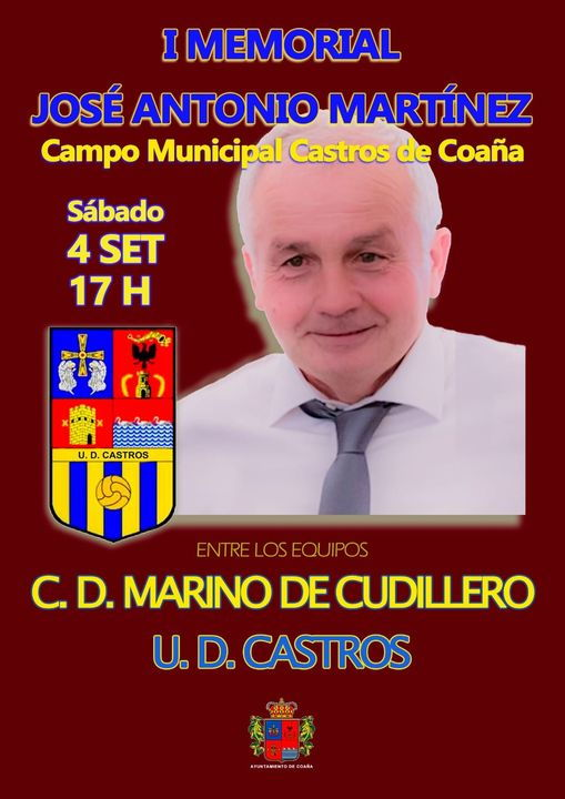 UD Castros y Marino de Cudillero disputarán en el Campo Municipal de Coaña el I Memorial José Antonio Martínez